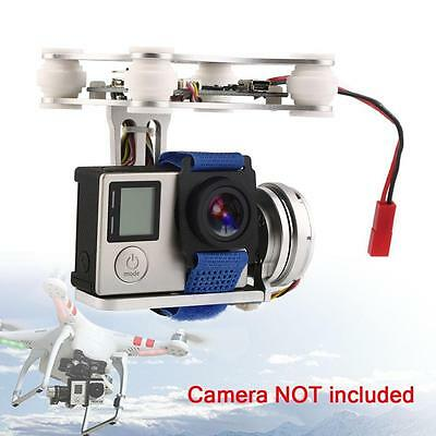 Silver FPV 2 Axle Brushless Gimbal With Controller For DJI Phantom GoPro 3 4 CO~