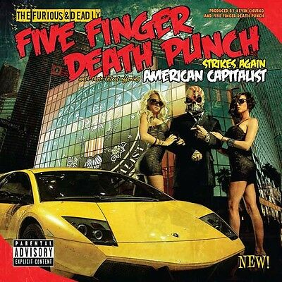 Five Finger Death Punch American Capitolist Lp Vinyl New Coloured