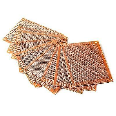Pixnor 10pcs 7x9cm PCB Blank Circuit Board Prototype Paper Solder Circuit New