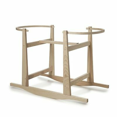 Rocking Moses Basket Stand - Natural, by Rockers by Richard, Made USA, Wooden