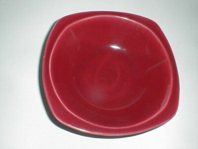 "Paden City Pottery Solid Maroon MINION 8-1/2"" Vegetable Bowl (loc-B5)"