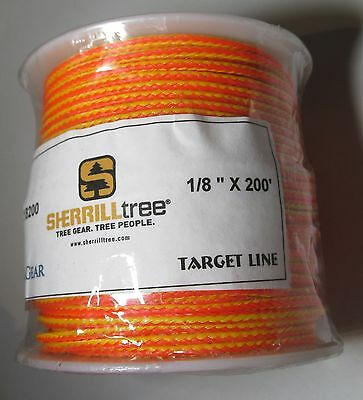 "200' Spool All Gear Sherrilltree 1/8"" Slick Neon Target Throw Line Solid Braided"