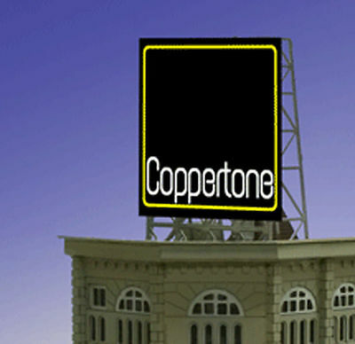 Coppertone Animated Billboard Sign for N Z Scale Miller 338830