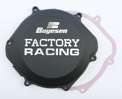 Boyesen Factory Clutch Cover / Black - Honda 87-01 CR250 CR500