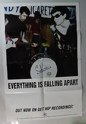 Subsonics - Everything Is Falling Apart - Large Promo Poster - FREE SHIPPING