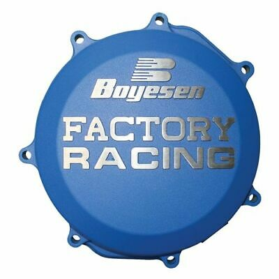 Boyesen Factory Clutch Cover / Blue - Husqvarna 14-16 TC250 TE250 TE300
