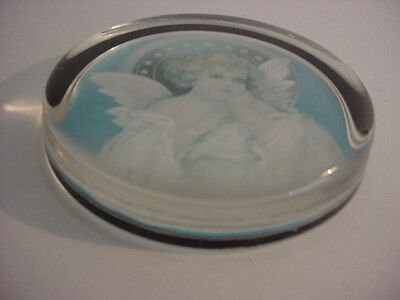 Art Nouveau Angel Glass Paper Weight