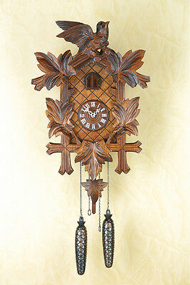 Cuckoo Clock,Cuckoo Clock, Black Forest, Wall Automatic Night-Time Shut-Off 354q