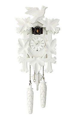 Large Wall Clock Cuckoo Design Collection 35cm High in White - More Shop