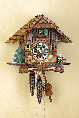 Analog Cuckoo clock with 1-day chain-driven movement, Clock, Black forest 1506