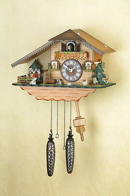 Cuckoo Clock,Cuckoo Clock, Black Forest, Spinning Dancer, Made in Germany 407qt