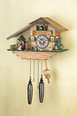 Cuckoo clock, Black forest, spinning dancer, Made in Germany 407QT