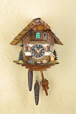 Beautiful Analog Cuckoo clock with 1-day chain-driven movement,Black forest 1509