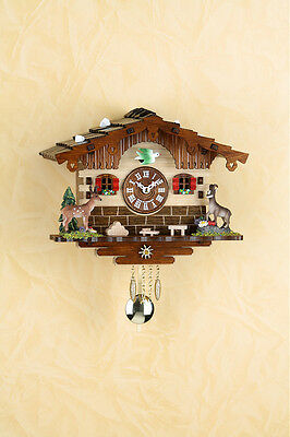 Black Forest Clock Pendulum Clock with Cuckoo Made in Germany 2036pq