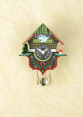 Pendulum clock Miniature Black Forest Cuckoo Made in Germany 14 P