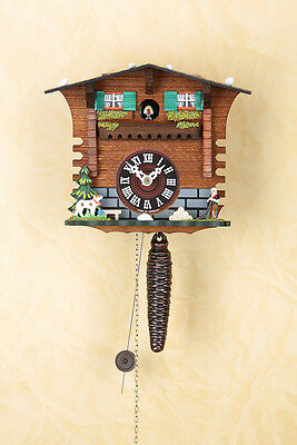 Quarter-hour striking Cuckoo clock with 1-day chain-driven movement,