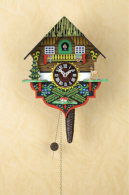 Quarter-Hour Striking Cuckoo Clock with 1-day Chain-Driven Movement, Quarter