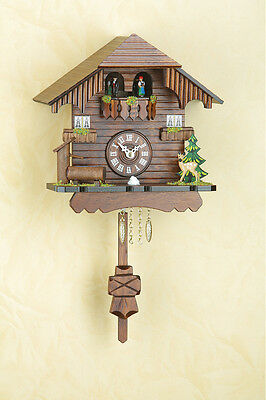Pendulum Clock Black Forest Spinning Dancer Cuckoo Made in Germany 261pq