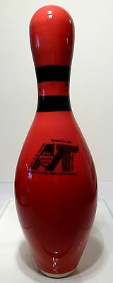 Rare Red MT Bowling pin made in Germany ABC WIBC approved