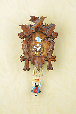 Black Forest Clock Nut Pendulum Clock,without Cuckoo,Swinging Made in Germany