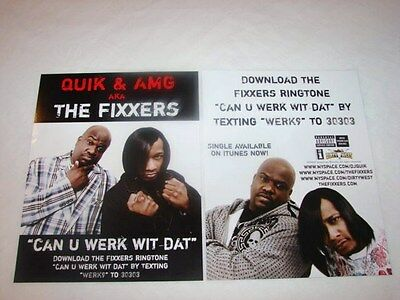 DJ Quik & AMG The Fixxers Can U Werk Wit Dat RARE Double Sided Promo Poster NEW