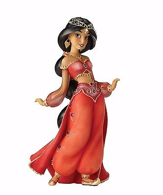 New DISNEY SHOWCASE Figurine JASMINE IN RED DRESS Statue Figure ALADDIN DANCE