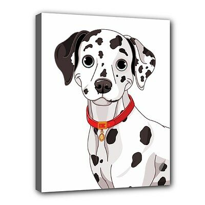 "New DALMATIAN Dog Puppy Art Portrait 11""x14"" Wrapped CANVAS PRINT Wall Hang Deco"