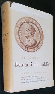 Benjamin Franklin Papers Book,Yale U. Vol 4,Index,Letters,Essays,Business Papers