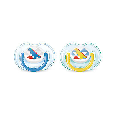 New Philips AVENT BPA Free 0-6 Months 2 Pack Fashion Print Pacifier - Boy