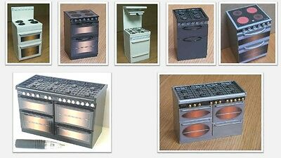1:12 scale dolls house miniature modern selection of cookers 7 to choose from.