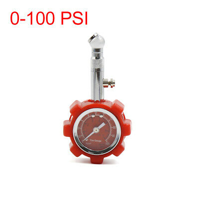 0-100 PSI Red Tyre Tire Air Pressure Gauge Meter Tester for Car Auto Motorcycle