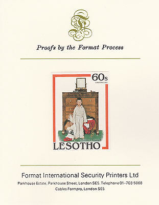 Lesotho 2877 - 1981 Norman Rockwell 60s on Format International PROOF  CARD