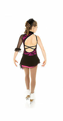 New Elite Xpression SPANISH TANGO Skating Dress D147-BKFU Made on Order