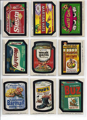1975 Topps Wacky Packages 12th Series 12 Complete Sticker Set 27/27 NM-