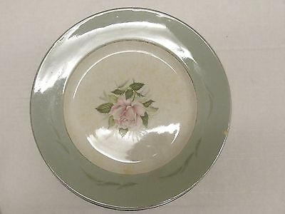 4 Antique W.H GRINDLEY WHITE SATIN ROSE DINNER PLATES ENGLAND IRONSTONE