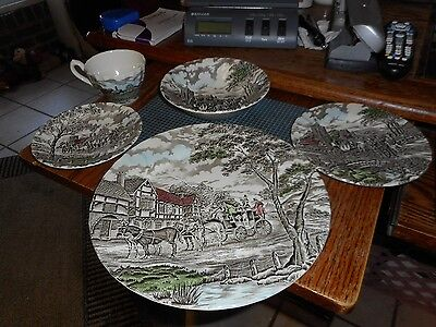 5 Piece Set Place Setting Myott Royal Mail Staffordshire England Color