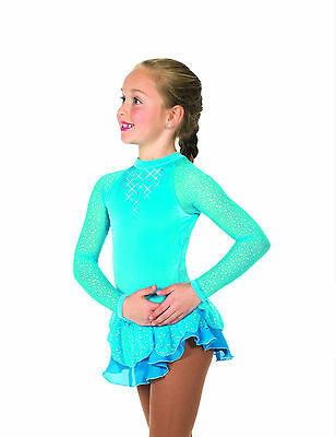 New Competition Skating Dress Jerry's 10 Starshine Dress - Sky Blue  Adult Small