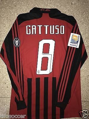 Gattuso Milan 2007  Match Unworn Shirt Fifa Club Word Cup