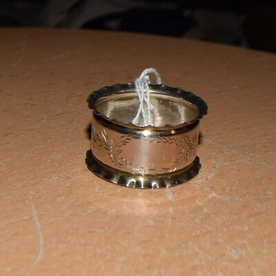 Antique STERLING SILVER Hand-Engraved Napkin Ring c.1909