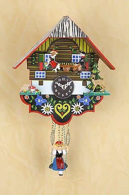 Black Forest Clock with Rocker but without Cuckoo Pendulum Made in Germany 55SW
