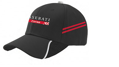 Maserati Corse Ball Cap / Hat In Black