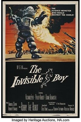 The Invisible Boy Linen Backed Original Rolled Movie Poster 1957