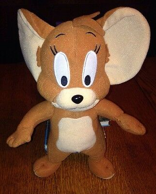 """TOM AND JERRY 13"""" Stuffed Animal Plush Brown JERRY MOUSE Toy Factory"""