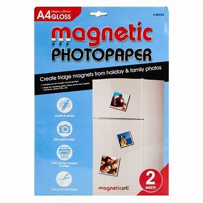 A4 Magnetic Gloss Finish Photo Paper Printing Inkjet Create Sign Fridge Magnet