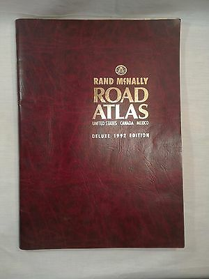 Vintage Rand McNally Road Atlas Deluxe 1992 Edition United States Canada Mexico