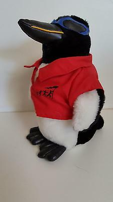 "Symbicort Turbuhaler penguin plush toy wearing red shirt & blue glasses 9"" tall"