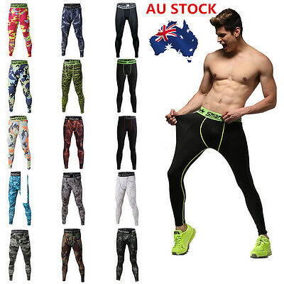 Plus Size Men Skin Compression Pant Tight Gym Fitness Camouflage Sports Trouser