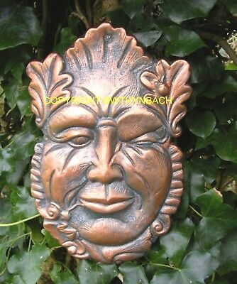 New Rubber Latex Mould Mold Pagan Wiccan Greenman Green Man Wall Plaque 14
