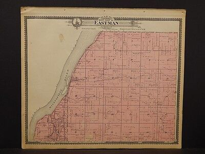 Wisconsin, Crawford County Map, Eastman Township 1902,  J6#24