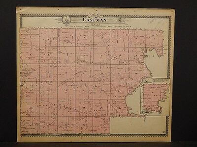 Wisconsin, Crawford County Map, Eastman Township 1902,  J6#25